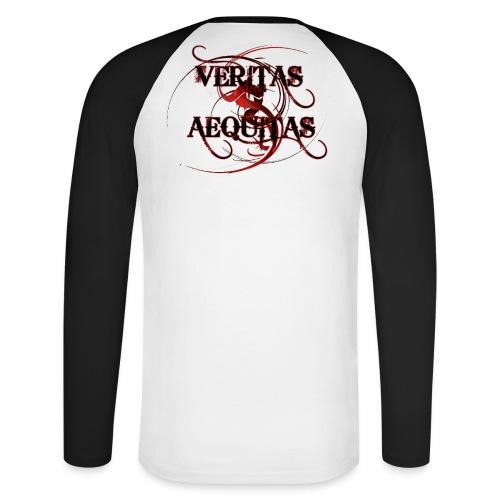 Veritas Aequitas - Männer Baseballshirt langarm