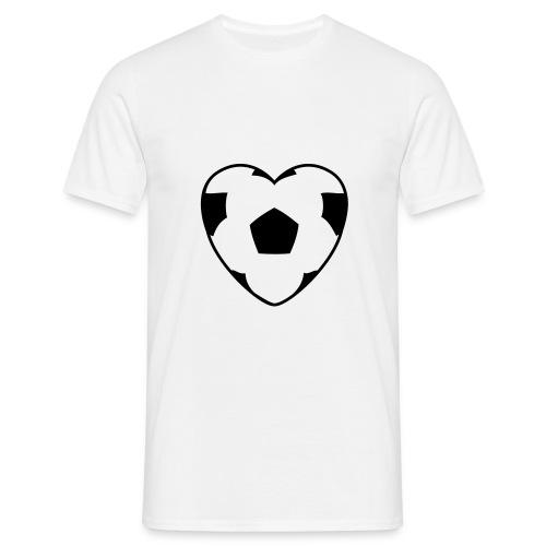 Elsker fotball - T-skjorte for menn