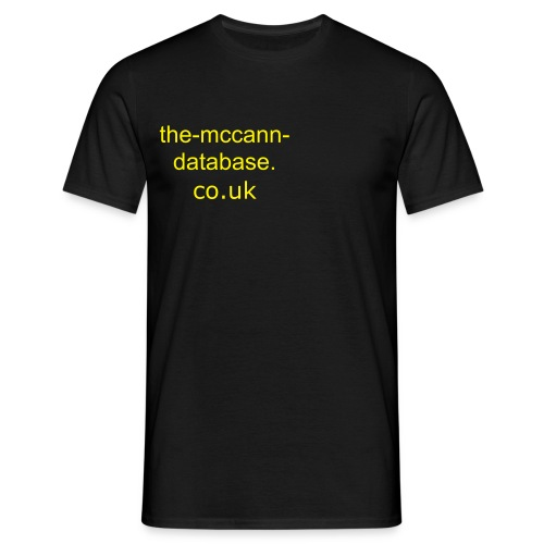 The-McCann-Database.co.uk - Men's T-Shirt