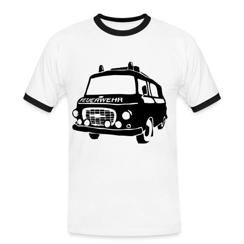 BARKAS B1000 KLF KontrastWEISS/SCHWARZ - Männer Kontrast-T-Shirt