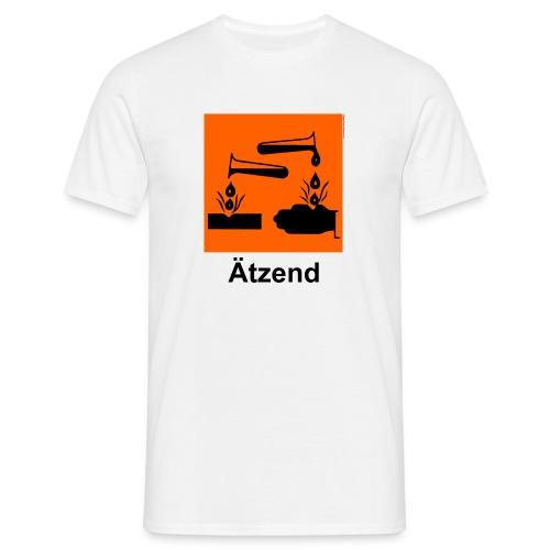 Comfort T (Ätzend, weiß) - Männer T-Shirt