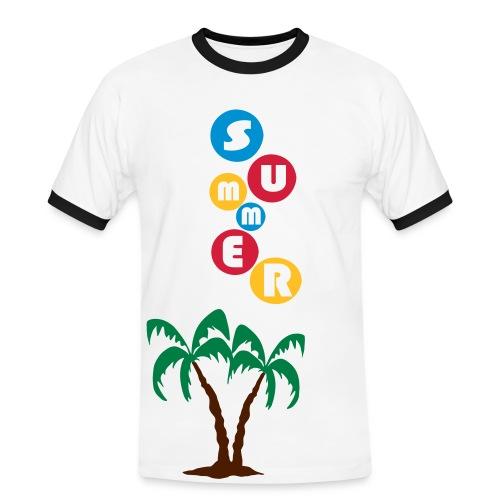 summer - Mannen contrastshirt
