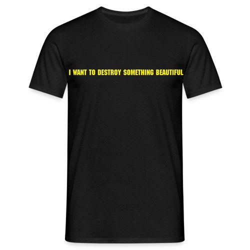 I want to destroy something beautiful. - Men's T-Shirt