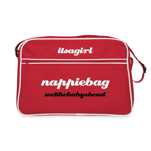 its a girl nappie bag - Retro Bag