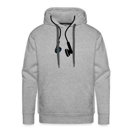 Grey 'Earphone' Hoodie - Men's Premium Hoodie