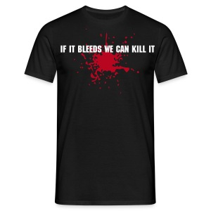 If it bleeds + nazwa klanu/nick z tylu! - Men's T-Shirt