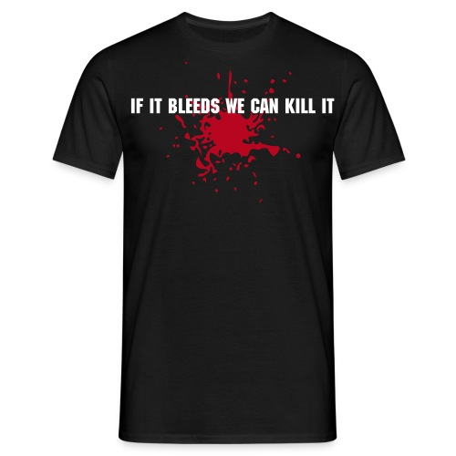 If it bleeds + nick/clan on back! - Maglietta da uomo