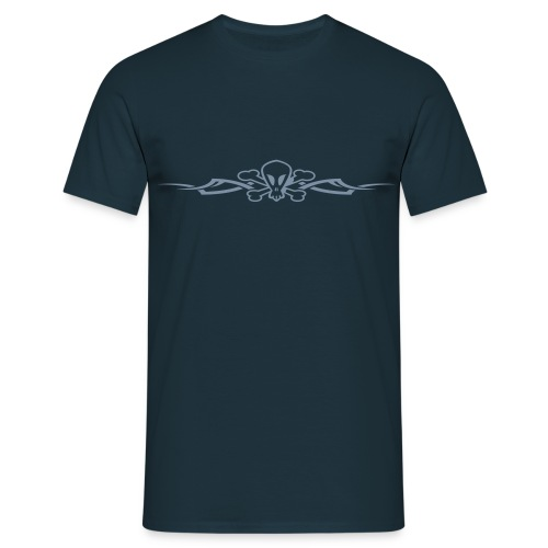 Tribal Scull (silver) - Men's T-Shirt
