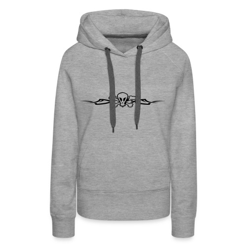 Tribal Scull, Hood (black) - Women's Premium Hoodie