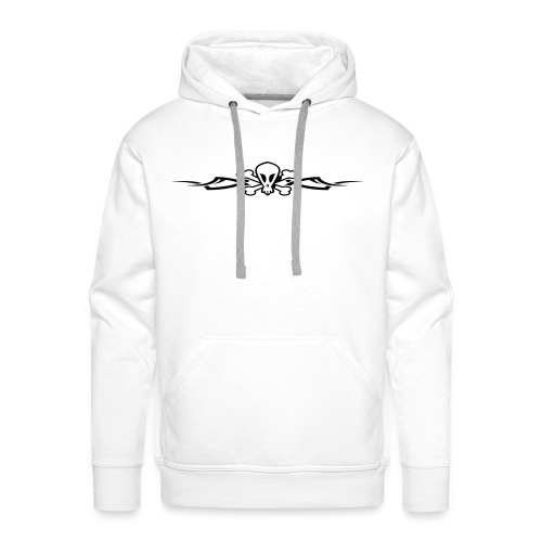 Tribal Scull, Hood (black) - Men's Premium Hoodie