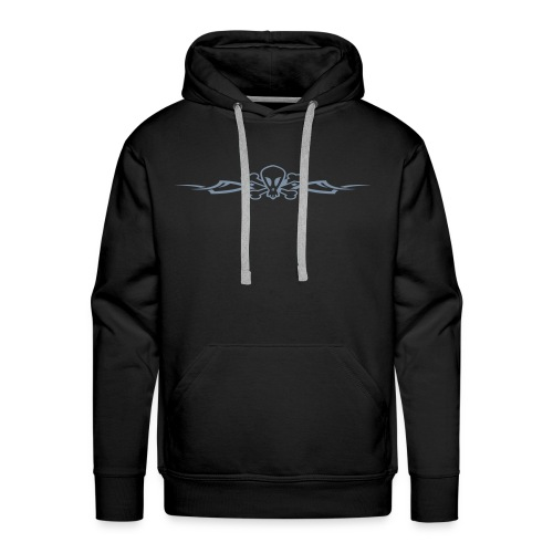 Tribal Scull, Hood (silver) - Men's Premium Hoodie