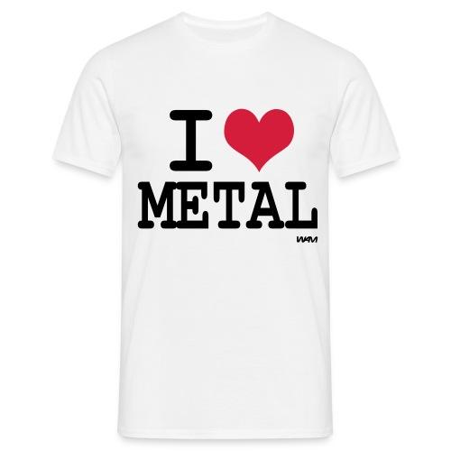 I Love Metal - Maglietta da uomo