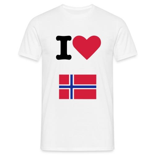 I love Norway - Maglietta da uomo