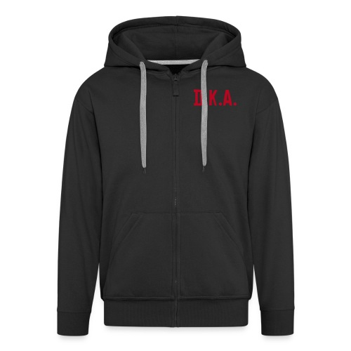 Mens basic Hoodie D.K.A.logo  (red) - Men's Premium Hooded Jacket