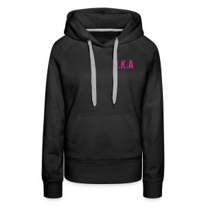 Womens hooded sweatshirt with D.K.A. logo and picture (pink) - Women's Premium Hoodie