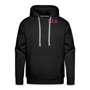 Hooded Sweatshirt with D.K.A. logo and picture (pink) - Men's Premium Hoodie