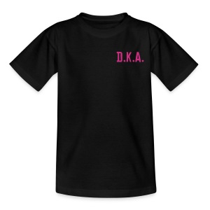 kids tshirt with D.K.A. logo and picture (pink) - Teenage T-shirt