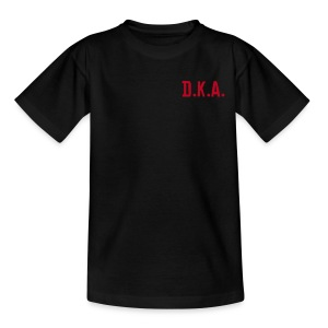 kids tshirt with D.K.A. logo and picture (red) - Teenage T-shirt