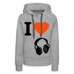 i love music - Vrouwen Premium hoodie
