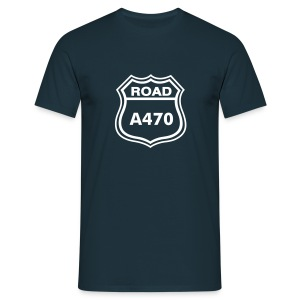 A470 T shirt - Navy / Glas - Men's T-Shirt