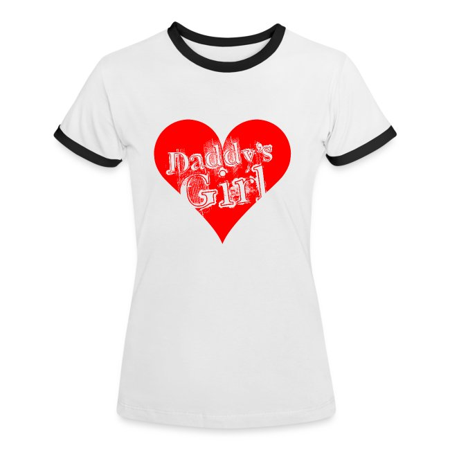 Valkoinen/musta daddys_girl_red T-paidat