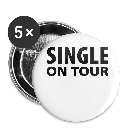 Anstecker Single on Tour - Buttons mittel 32 mm (5er Pack)