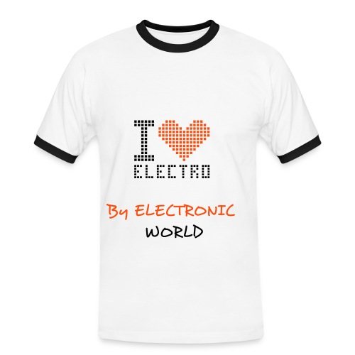 Tee Shirt Homme I LOVE ELECTRO By ELECTRONIC WORLD  - T-shirt contrasté Homme
