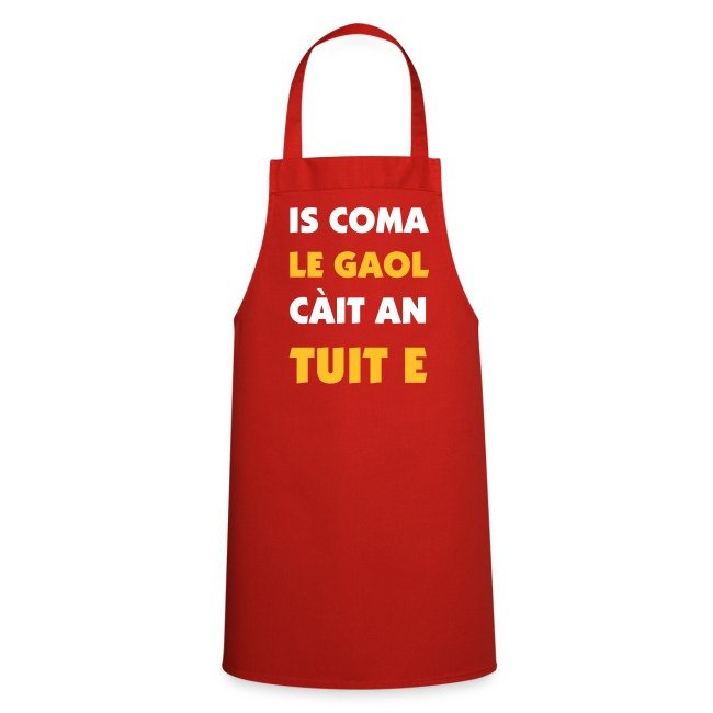 Gaol Apron - Red/White/Gold
