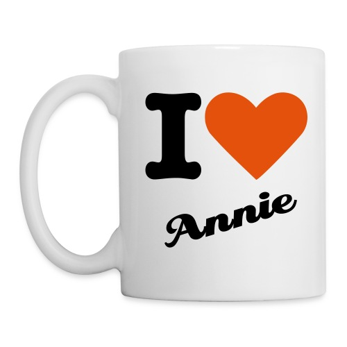 I love Annie coffee cup - Muki