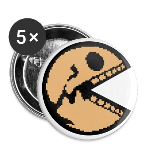 Pacman Skull pixeled 2C.2 - Buttons klein 25 mm