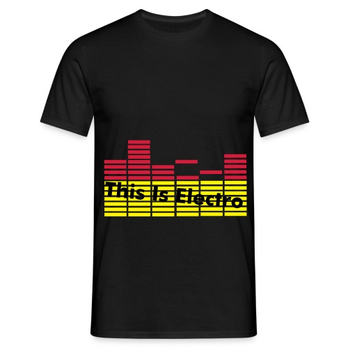 This Is Electro EQ sort - Herre-T-shirt