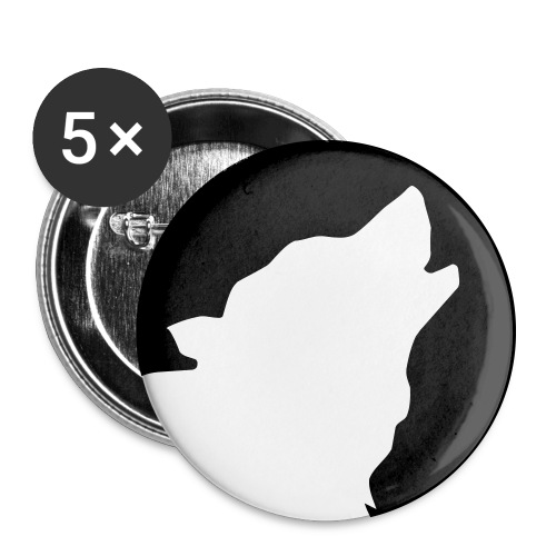 5 Buttons - Motiv WOLFSMOND [Vorster Waldstadion] - Buttons groß 56 mm