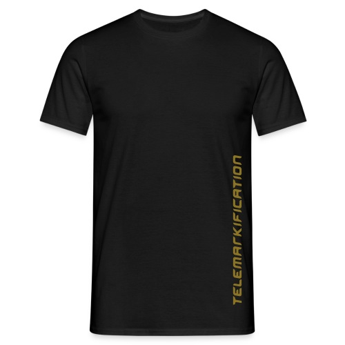 Tele SS1 black/gold matt - Männer T-Shirt