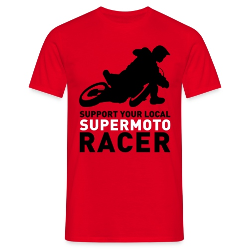 Tshirt Support Racer - Rouge - T-shirt Homme