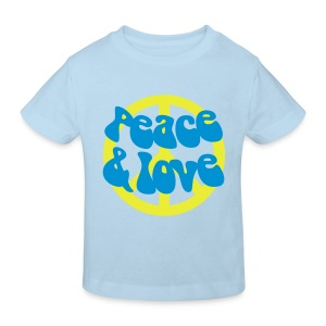 Peace and love - T-shirt bio Enfant