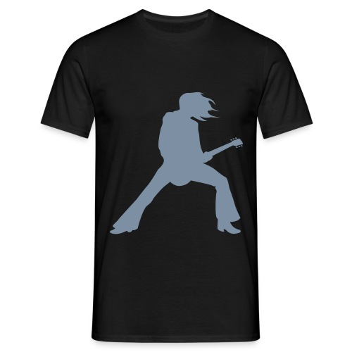 Silver Guitarist mens - Men's T-Shirt