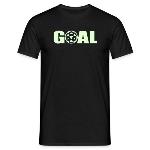 Goal T-Shirt(Schrift Leuchtet im Dunkeln) - Männer T-Shirt