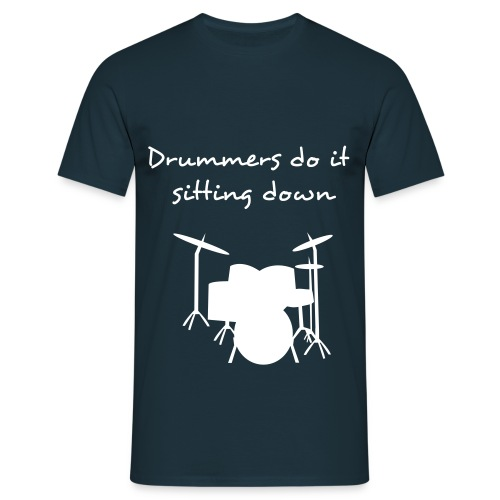 drummers do it mens  - Men's T-Shirt