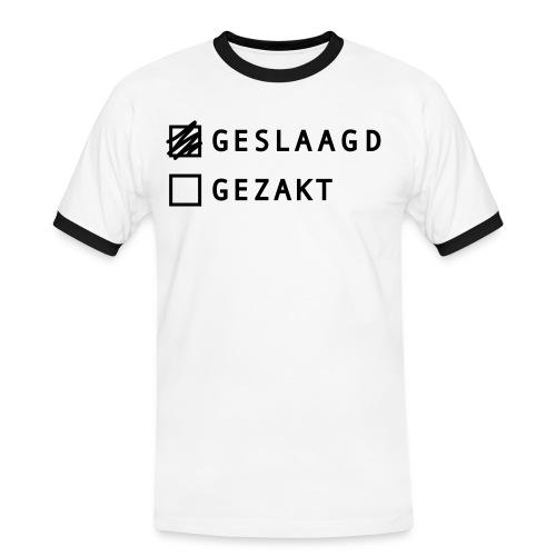 geslaagd - Mannen contrastshirt