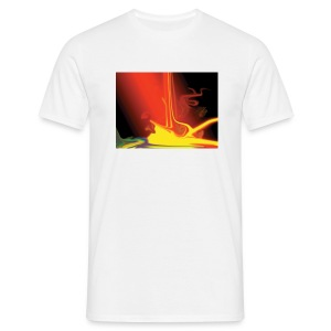 BurningEarth white - Männer T-Shirt