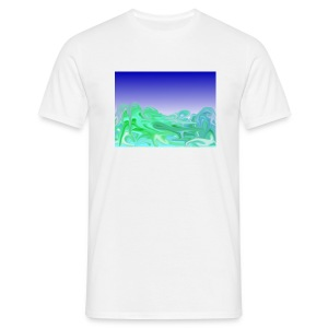 Waves white - Männer T-Shirt