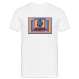 RoundLap white - Männer T-Shirt