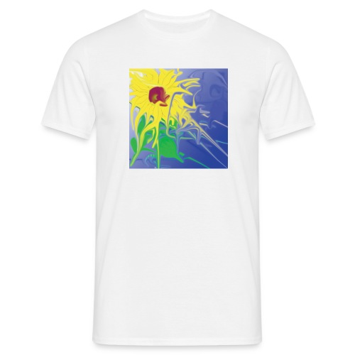 SunFlower white - Männer T-Shirt
