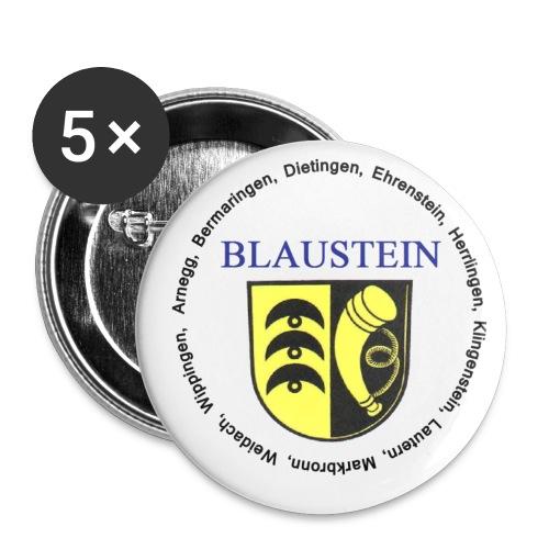Anstecker Blaustein - Buttons groß 56 mm