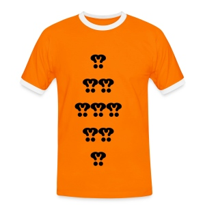 l'amour en kestion H orange - T-shirt contrasté Homme