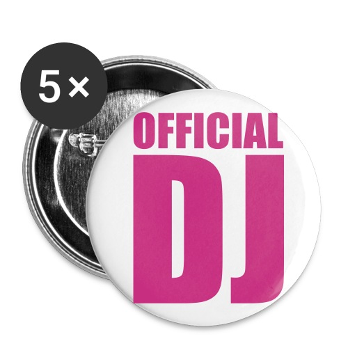 dj - Buttons/Badges lille, 25 mm (5-pack)
