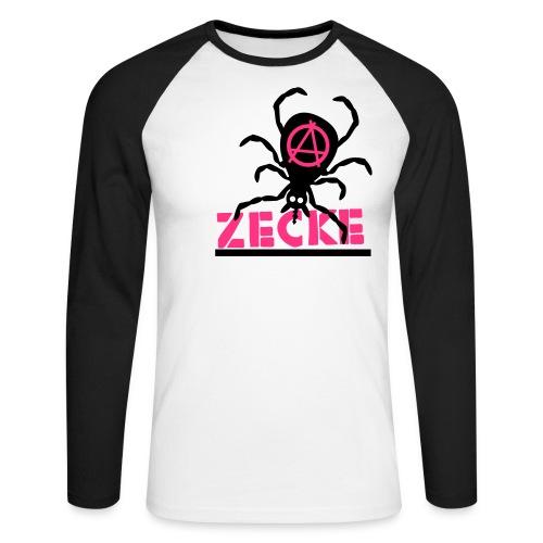 Zecke - pink baseballshirt - Männer Baseballshirt langarm
