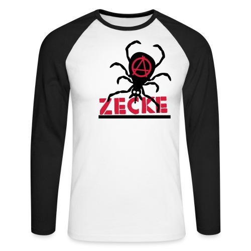 Zecke - rot baseballshirt - Männer Baseballshirt langarm