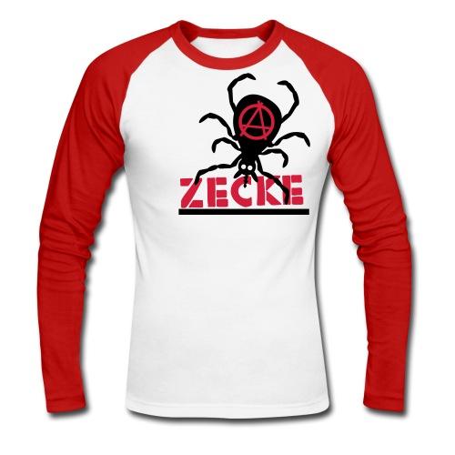 Zecke - rot baseballshirt1 - Männer Baseballshirt langarm