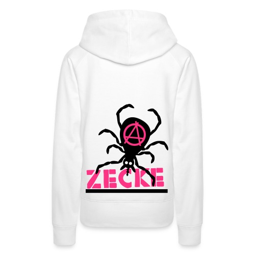 Zecke - pink/weiß kapu girlie - Frauen Premium Hoodie